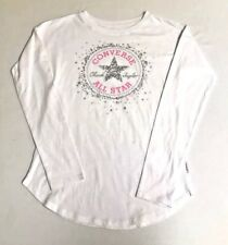 CONVERSE Chuck Taylor All Star Girl sz L 12-13 yrs T-Shirt Top Metallic Graphic
