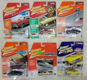 Johnny Lightning MUSCLE Cars USA, lot of 6, NIP (F17)