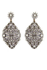 "NWT Badgley Mischka Couture Swarovski Crystal 3"" Victorian Drop Dangle Earrings"