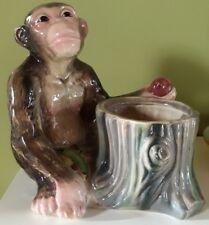 ceramica cia manna scimmia lenci vibi ape ceramic albissola Bassano chimpanzees