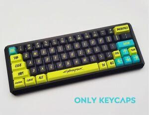 Game Cyberpunk 2077 Keycap Mechanical Keyboard PBT OEM Suit 118 Keys Present