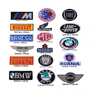 Car brand Patches Motor Sports motor racing embroidered Sew on Iron On Badges