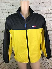 VTG Tommy Hilfiger Athletic Jacket Windbreaker mens medium ColorBlock Lined lj63