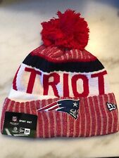 New England Patriots Beanie Cap Hat Nfl Football New Era Cuffed Knit On Field