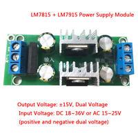 LM7815+LM7915 ±15V dual voltage regulator rectifier bridge power supply moduleDP