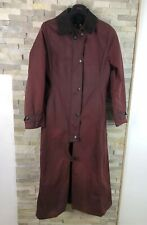 Barbour Ladies Size 8 Red Full Length Wax Jacket Coat