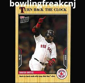 🛑 DAVID ORTIZ 2021 TOPPS NOW TURN BACK THE CLOCK #201 BOSTON RED SOX 🔥