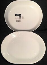 "SET 2 Corelle PLATTER Embossed CHERISH 12.25"" oval Serving Dish NEW"