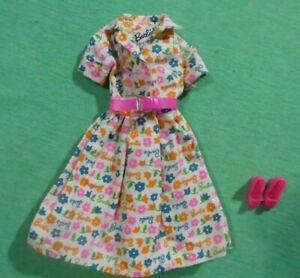 Vintage Barbie Doll Clothes - Vintage 1634 Barbie Learns to Cook Dress