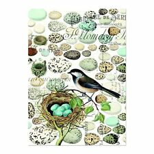 """Michel Design Works, """"Nest and Eggs"""", Pure cotton printed tea towel."""