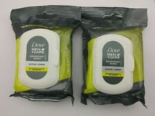 2 Packs Dove Men Care Deodorant Wipes Towelettes Active + Fresh On The Go 50