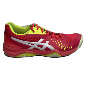 Asics Gel Challenger Tennis Shoes Womens Size 9 Pink Yellow Sneakers 121042A041