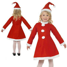 Girls Miss Santa Claus Costume Child Christmas Fancy Dress Outfit Kids Xmas 4-6