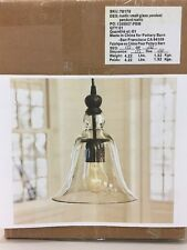 NEW w/Chip Pottery Barn RUSTIC GLASS INDOOR/OUTDOOR PENDANT SMALL Light Fixture