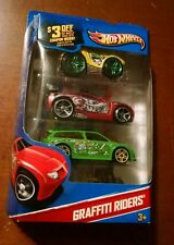Hot Wheels Graffiti Riders, 2010 MIP!  Rocket Box, Power Rage, & Audacious