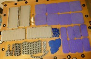 Rokenbok REPLACEMENT pieces Base Plates Blocks Purple Grey Blue 73 pieces