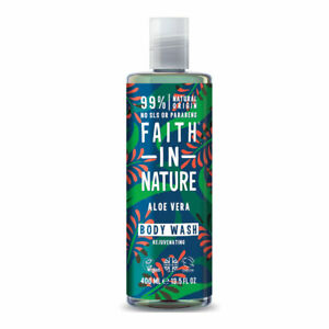 Faith In Nature Aloe Vera Body Wash Rejuvenating Vegan Friendly 400ml New