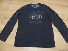 Tom Tailor  Langarmshirt T-Shirt Shirt mit Druck, dunkelblau, Gr. L , neuwertig