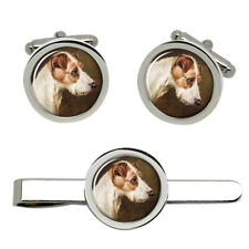 Wire Fox Terrier by Colin Graeme Roe Cufflinks and Tie Clip Set