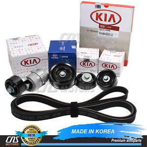 V-Ribbed & Serpentine Belt Tensioner Kit Fits 2009-2010 Kia Optima Rondo 2.4L