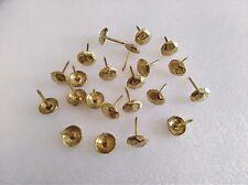 100 pcs Upholstery-Nail-Furniture-Studs-Tacks-Pins-11mm hammered gold A022