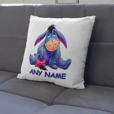Personalised eeyore Cushion Cover Any Name Printed eeyore Pillow Cover