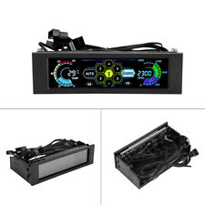 5-fans Controller CPU Sensor Computer Cooling Drive Bay Front LCD Panel SUP