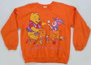 Rare VTG Winnie the Pooh Piglet Trick or Treat Halloween Sweatshirt 90s Youth M
