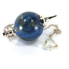 Lapis Lazuli Crystal Gemstone Ball Pendulum (EA5745M) Healing Dowsing Spiritual