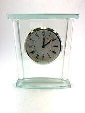 "7"" Square Glass Clock with Top"