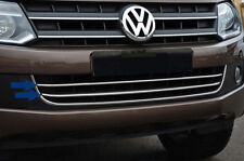 VW AMAROK CHROME LOWER GRILLE BARS 2pce - PAINTED BUMPERS - 2010 to 2017..