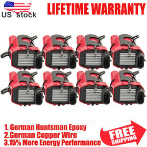8 Pack Ignition Coils For Chevy Silverado 1500 2500 GMC 5.3/6.0L/4.8L UF262 D585