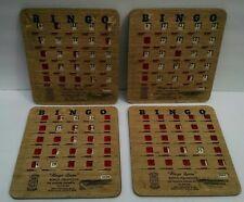 Vintage Bingo Queen Bingo Cards Red Slider Windows Made in Glenco Illinois