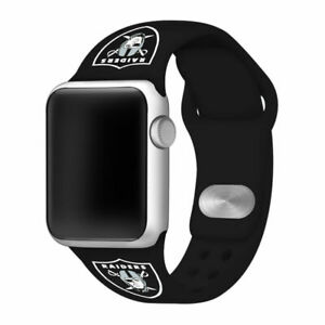 Las Vegas Raiders Silicone Sport Band Compatible With The Apple Watch