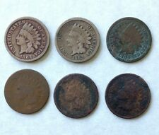 1862-1867 Indian Head cent pennies collection b1