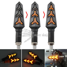 Pair10mm Motorbike LED Turn Signal Lamp Sequential Flowing Indicator Light Amber