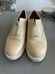 & OTHER STORIES Nude Pink Slip On Zip Front Shoes SIZE 38 UK5