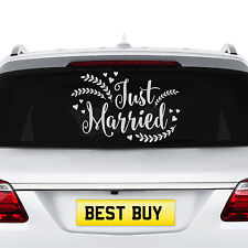 NEW Just Married Wedding Car Decal Vehicle Sticker Window Removable Banner Decor