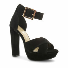 Women's Suede Block High heels Sandals & Beach Shoes