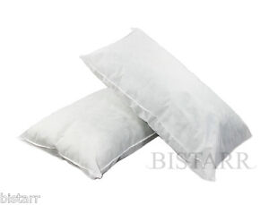 """SUPER KING SIZE BED PILLOWS, POLYCOTTON HOLLOWFIBRE FILLED 20"""" x 36"""" / 50 x 90cm"""
