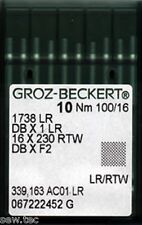 GROZ BECKERT LEATHER POINT INDUSTRIAL SEWING MACHINE NEEDLES DBX1LR SIZE 16/100