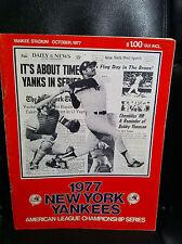 VINTAGE 1977 NEW YORK YANKEES VS. KANSAS CITY ALCS PROGRAM *NEW*
