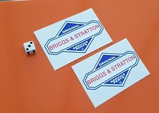 briggs and stratton decal stickers x 2 high quality vinyl 100mm x 60mm