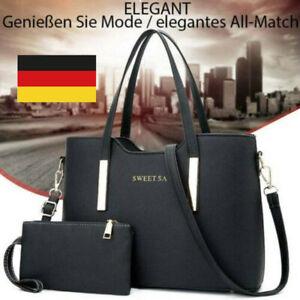 PU Leder Damentasche Shopper Handtasche Schultertasche Damentaschen Große DHL