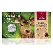 Österreich 5 Euro Silber Land der Wälder 2011 Handgehoben im Blister
