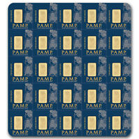 25x1 gram Gold Bar PAMP Suisse Multigram+25 (In Assay) - SKU #80382