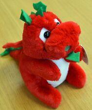 Red Welsh Dragon 18cm Tall Soft Toy Wales Cymru Tagged