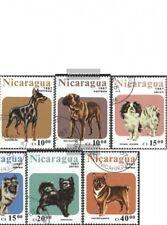 Nicaragua 2790-2796 (compl.edición) usado 1987 perros