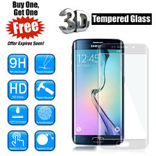 2X Full Curved 3D Tempered Glass LCD Screen Protector For Samsung Galaxy S6 EDGE