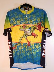 "Primal Wear Cycling Jersey. ""frog "". Size L. 3/4  ZIP. Short Sleeve"